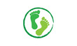 Concept pieds vert