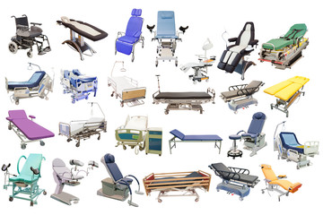 medical beds and chairs