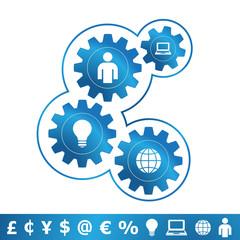 Engranajes concepto de negocio