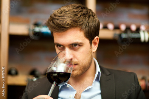 Young sommelier
