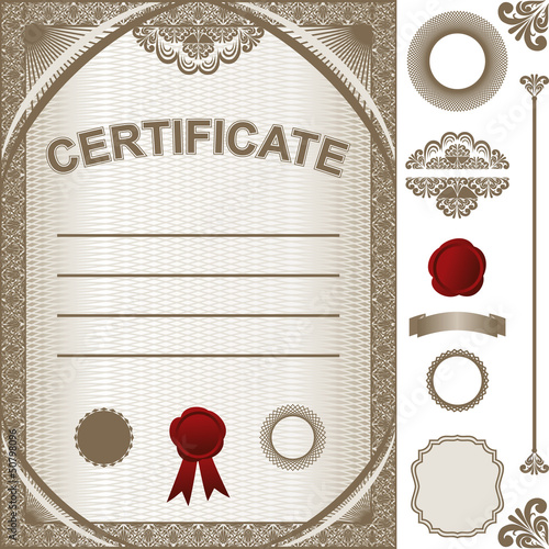 Certificate Template with additional design elements.