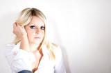 Portrait einer attraktiven Blondine