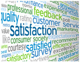 SATISFACTION Tag Cloud (quality satisfied customer service like)