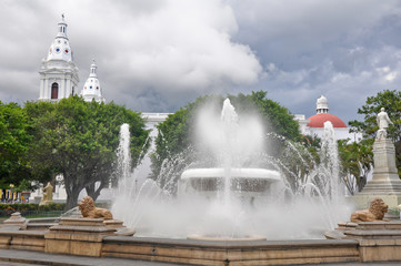 Lions fountain at Las Delicias square, Ponce (Puerto Rico)