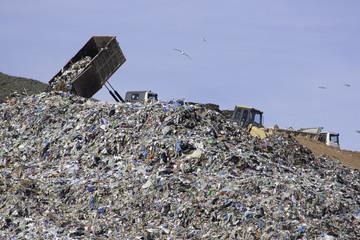 Vertedero de reciclaje