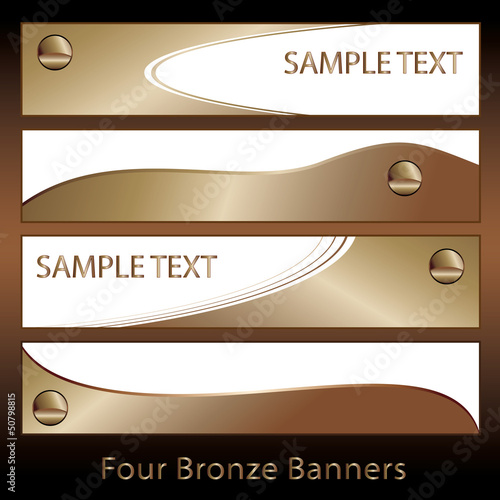 Bronze colored banners