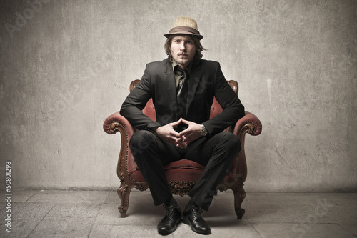man on armchair