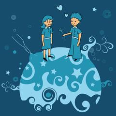 petit prince, princesse, conte, rêve, planète, amour