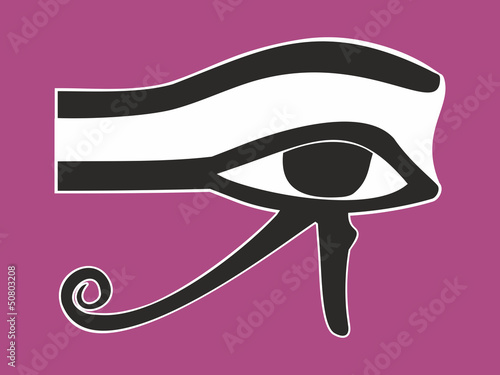 Egyptian Eye of Horus - ancient religious symbol, vector