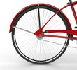 Red Old Bicycle Rear Wheel