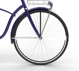 Purple Bicycle Wheel Closeup