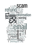 Tax Refund Email Scam IRS Warning poster
