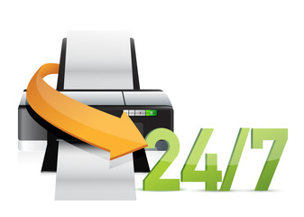 printer 24 for 7 service support