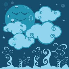 lune,planète,nuage,conte,univers,imaginaire,enfant