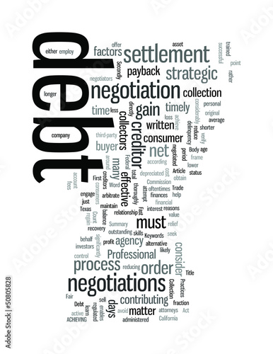 The debt negotiation process