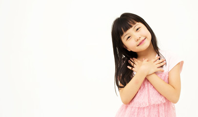 Asian little girl's portrait