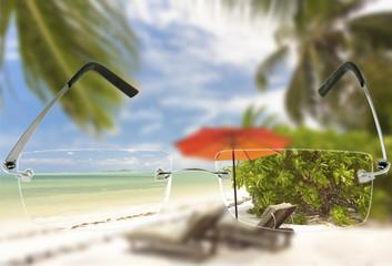vision nette, verres correcteurs, plage Seychelles
