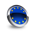 EU flag  on button