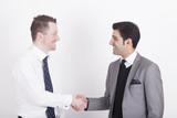 handshaking business partners