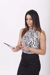 Sekretärin mit tablet pc