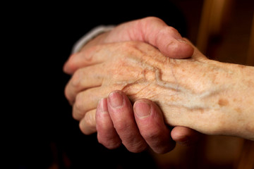 hands of the elderly