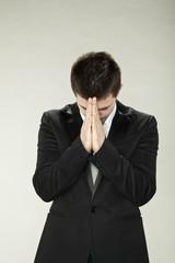 pastor prays