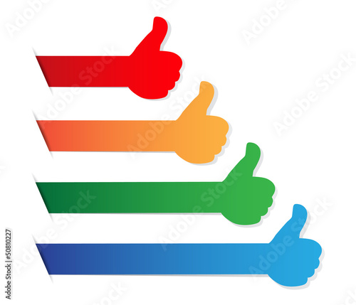 Thumbs up color blank tag