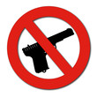 No Guns or Weapons sign