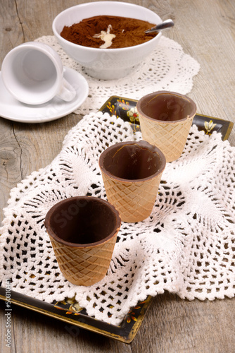 cup wafer chocolate