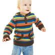 Kleinkind springt beim Tanzen