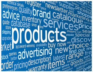 """""""PRODUCTS"""" Tag Cloud (prices services catalogue search info faq)"""