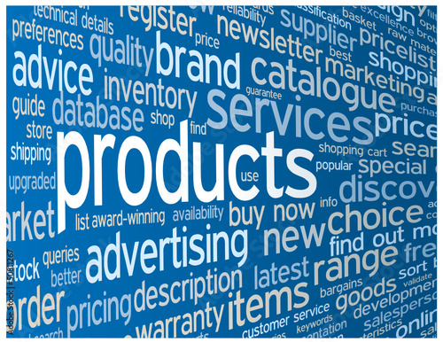 """PRODUCTS"" Tag Cloud (prices services catalogue search info faq)"