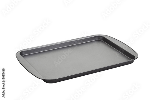 Metal baking tray.