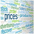 """PRICES"" Tag Cloud (quote products services info contact button)"