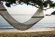 Hammock on beach ocean