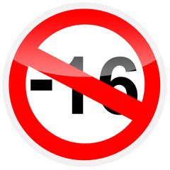 -16 prohibition sign