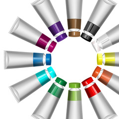 tubes of paint