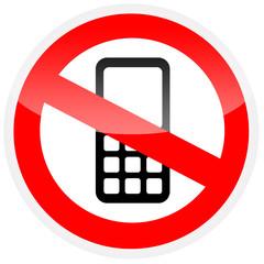 Sinal de proibição - Proibido usar o telemóvel