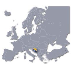 Europakarte Bosnien-Herzegowina