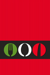 Italian menu design with cutlery symbols