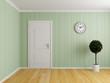 Empty interior room with door