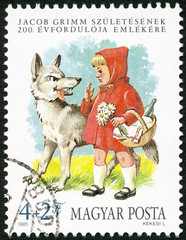 HUNGARY - 1985: shows Little Red Riding Hood and the Wolf