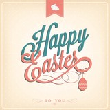 Happy Easter Typographical Background poster