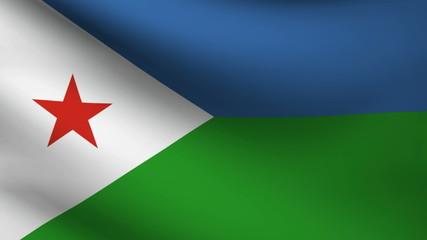 Djibouti flag.