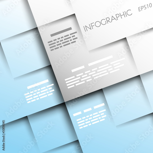 light blue square background with 3d squares