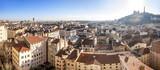 Fototapety Panorama de la ville de Lyon de Fourvière au crayon