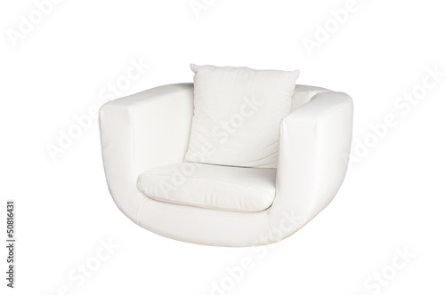 white sofa isolated on white background