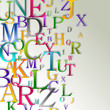 Alphabet abstract background