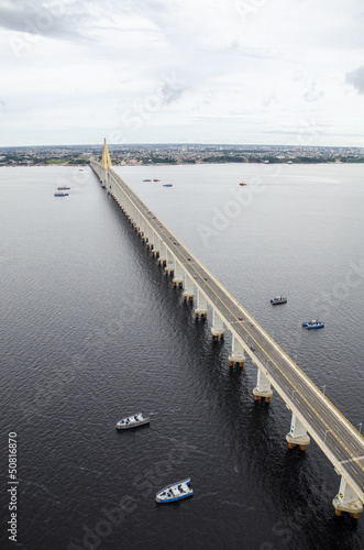 Manaus-Iranduba bridge over Negro river.