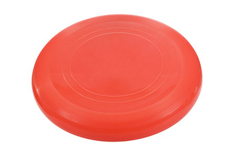Red flying disc.